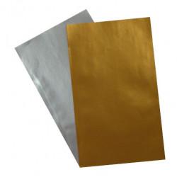 Flachbeutel aus Papier - Motiv Gold / Silber