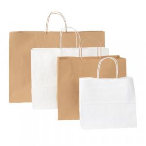 Papiertaschen Italy Querformate in weiß oder braun