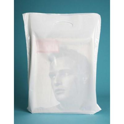 Plastiktragetaschen Griffloch DKT weiss (LDPE)