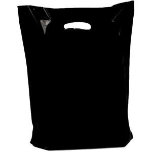 Plastiktragetaschen Griffloch DKT in schwarz