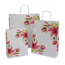 Papiertaschen Fiji mit Lilienmotiv