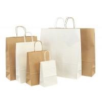 Papiertaschen Basic in weiß oder braun