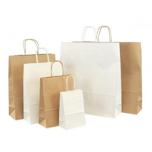 papiertaschen basic in wei oder braun bagstage24. Black Bedroom Furniture Sets. Home Design Ideas