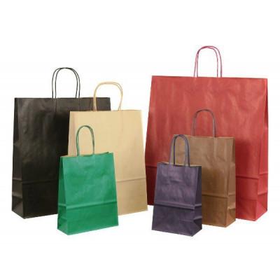 Papiertaschen Dark in 6 gedeckten Farben
