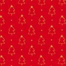 Blumenseide Weihnachtswald rubin-rot