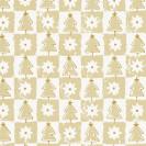 Blumenseide Weihnachtswald gras-beige (Graspapier)