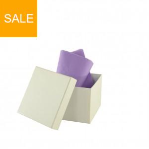 Stülpdeckelkartonage Quadrat hoch Uni- weiß