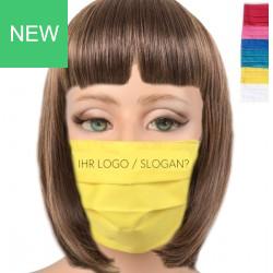Mund-Nasen Maske aus Stoff mit / ohne Druck
