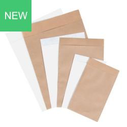 Flachbeutel aus Papier weiß / braun