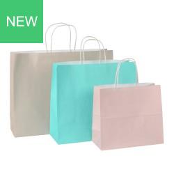 Papiertaschen Colorati Italy Naturali Querformate in 3 Farben