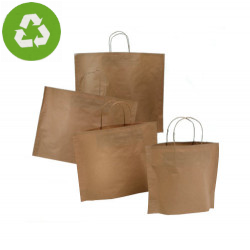 Papiertragetaschen BOTTOM BAG B-Bags Basic braun