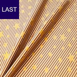 Geschenkpapier Stelle e Strisce braun-beige-gold