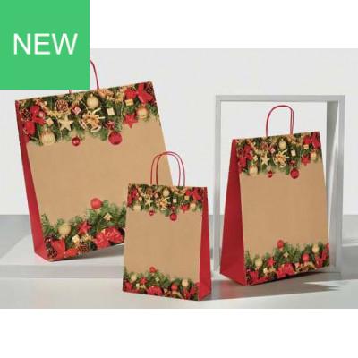 Weihnachtstragetasche Cortina rot