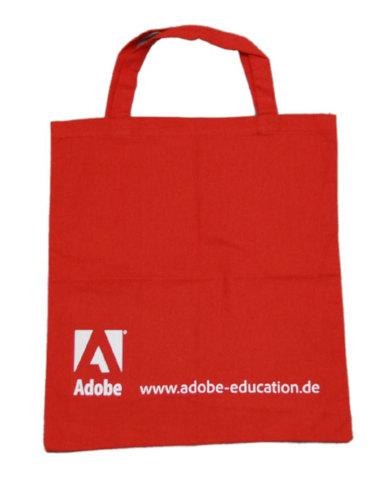 Baumwolltasche bedruckt Adobe