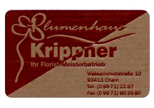 Etikett Blumenhaus Druck