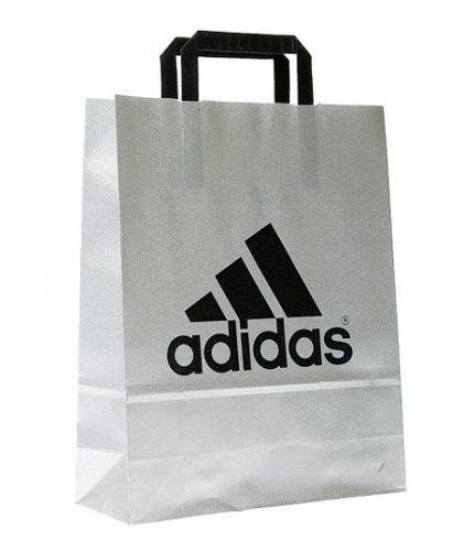 Papiertragetasche Flachhenkel-Adidas