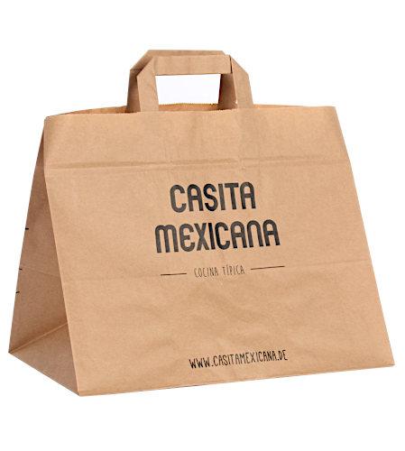 Papiertragetasche Mexikaner bedruckt