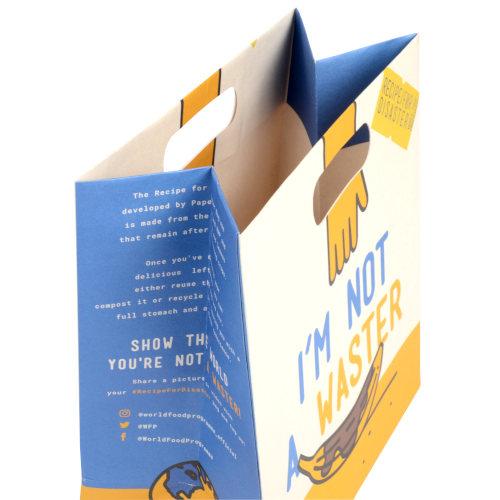 Papiertragetaschen PaperWise Griffloch Detail
