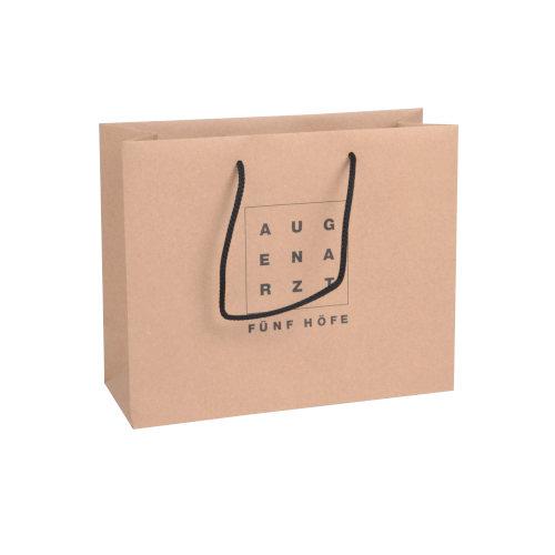 Recycling Papiertaschen bedruckt Kordel