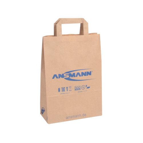 Recycling Papiertragetasche bedruckt Flachhenkel