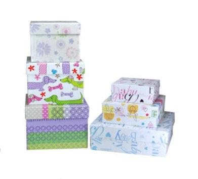 Stülpdeckelkartons Beispiele kaschiert