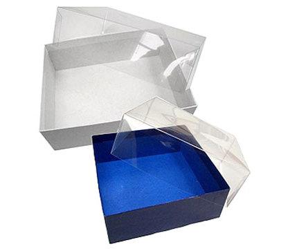 Stülpdeckelschachtel transparent farbig