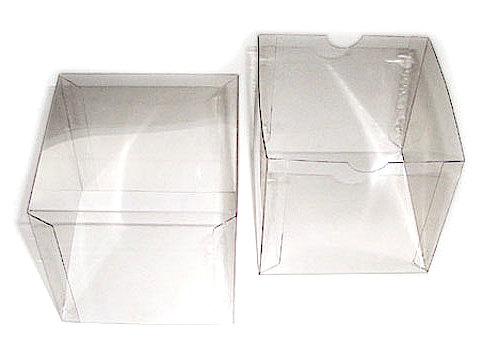 Stülpdeckelschachtel transparente Würfel