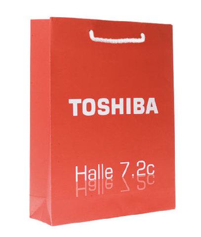 Toshiba Papiertragetasche Druck