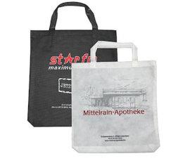 Vliestaschen mit Boden bedruckt